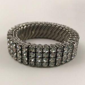 Elegant vintage bejeweled stretch bracelet